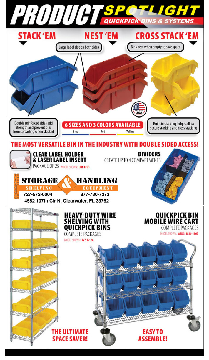 Bins Storage Handling