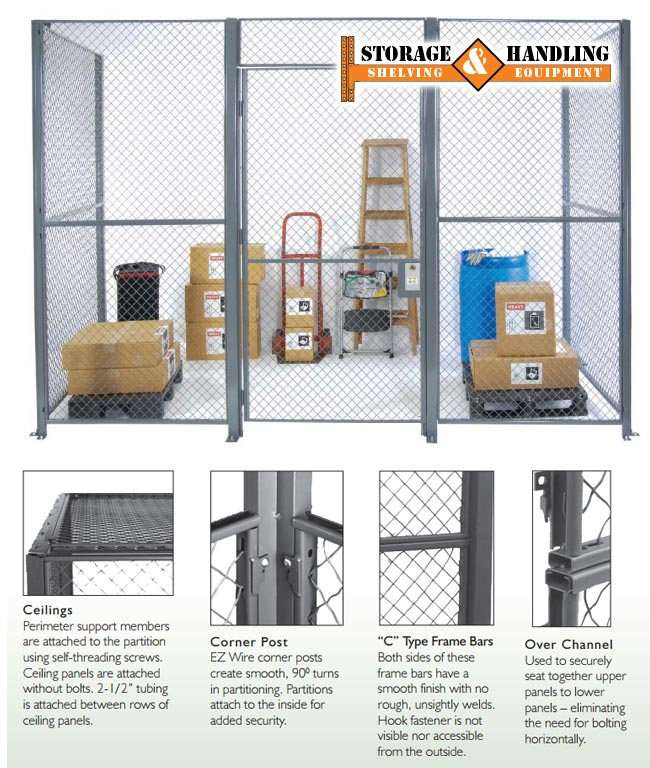 Wire Partitions & Wire Caging – Storage & Handling