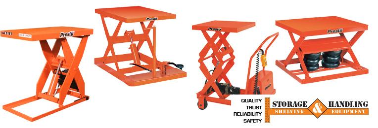Presto Scissor Tables - Storage & Handling